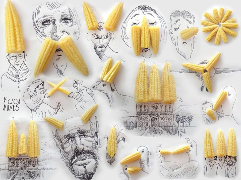 Виктор Нунес - Рисунки из кукурузы