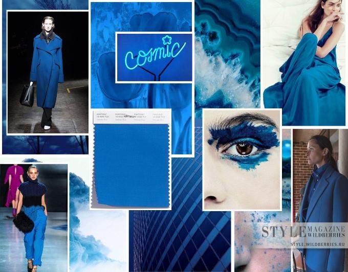Модные цвета осени 2018: Синий Туман