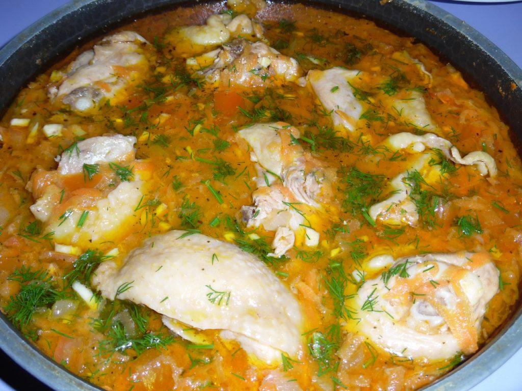Курица с овощной подливой- необычно ароматная и вкуснющая