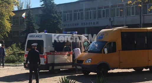В результате теракта в колледже в Керчи десять подростков погибли, 50 ранены.. Украина должна быть стерта с лица Земли