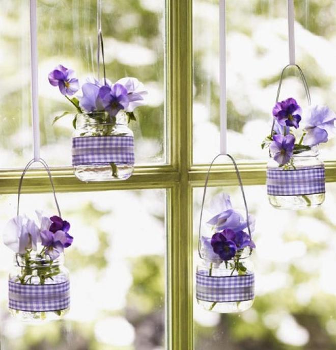 Как украсить цветами окна своими руками