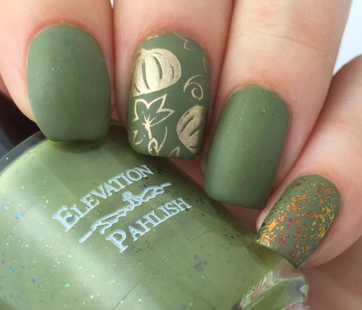 С каким цветом сочетается темно-зеленый на ногтях