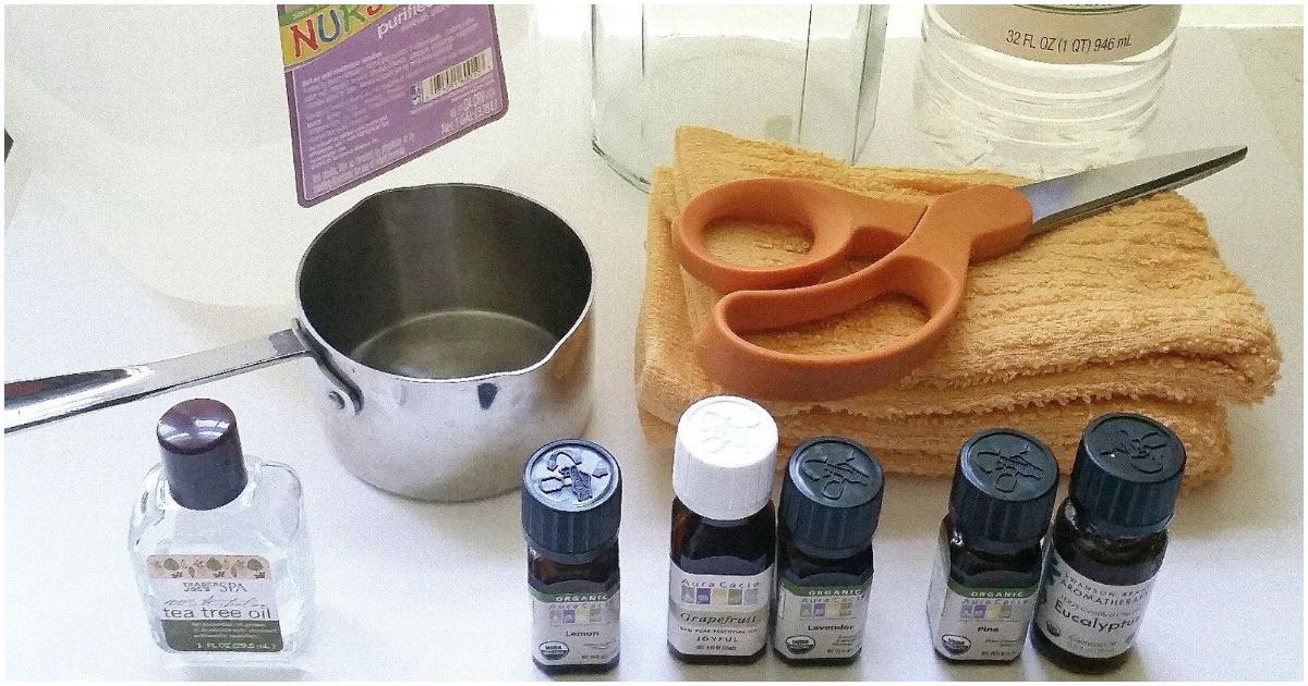 Сделайте дезинфицирующие салфетки, не содержащие токсичных химикатов