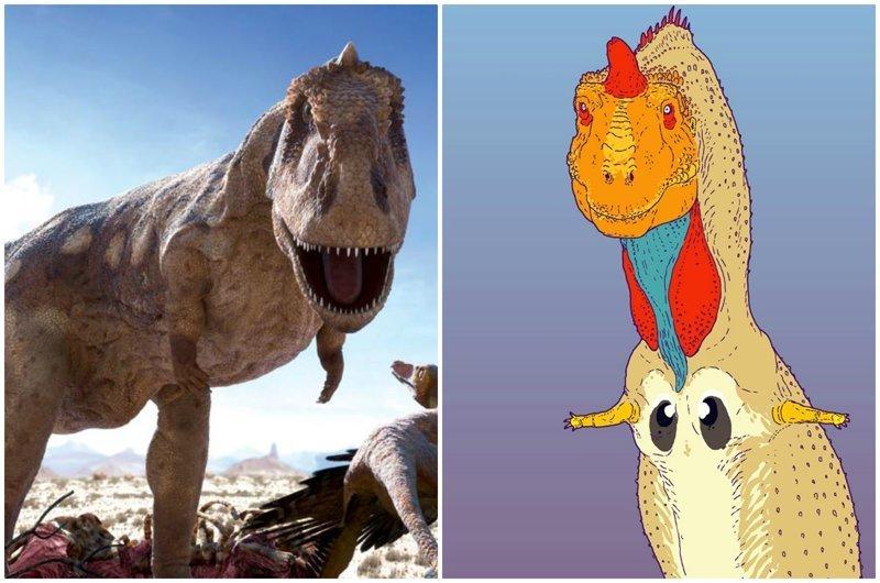 Художник-палеонтолог показал, как на самом деле выглядели динозавры динозавры, доисторические животные, доисторические существа, интересное, палеонтология, рисунки, художник