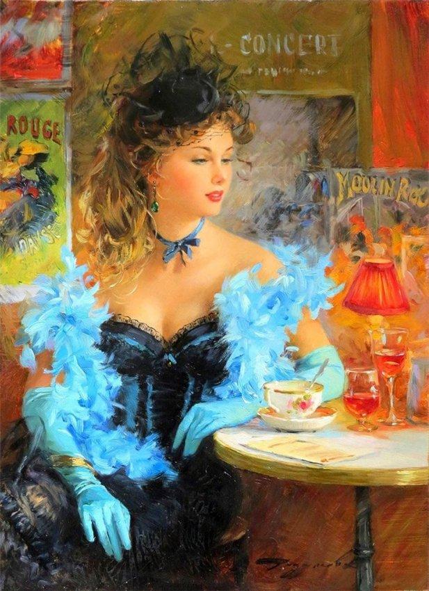 Женщина-мечта в картинах Константина Разумова