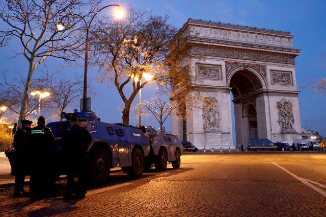 В Париже перед акцией «желтых жилетов» задержали шесть человек