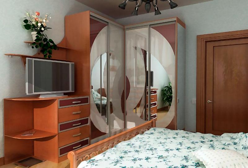 Угловой шкаф в интерьере фото