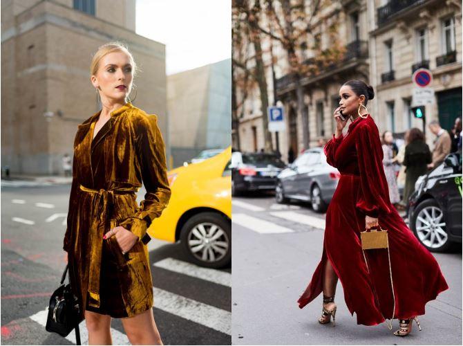 Как носить бархатное платье: 7 оригинальных идей