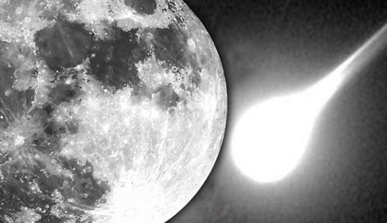 Запечатлен метеорит, упавший во время затмения на Луну