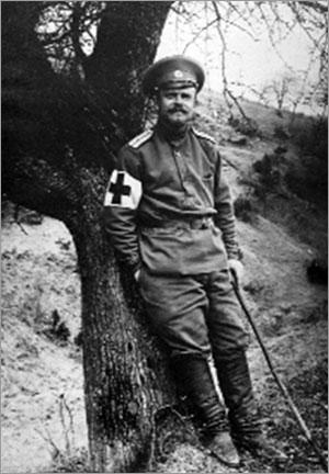И.А. Арямов в Карпатах. Весна 1915 г.