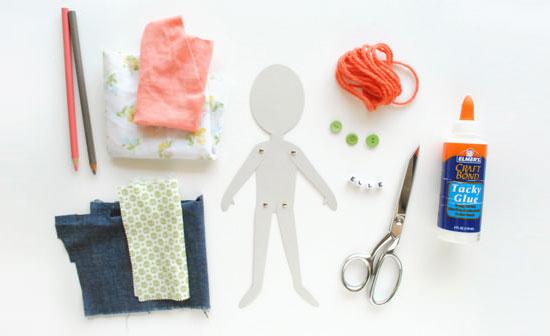 Двигающаяся бумажная кукла