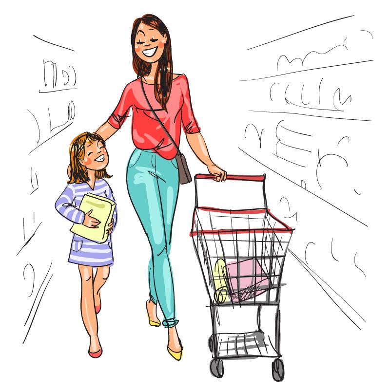Анекдот про то, как мама сдочкой творог вмагазине покупали