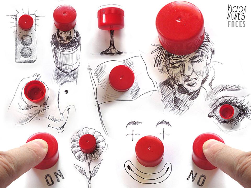 Виктор Нунес - Рисунки из крышек