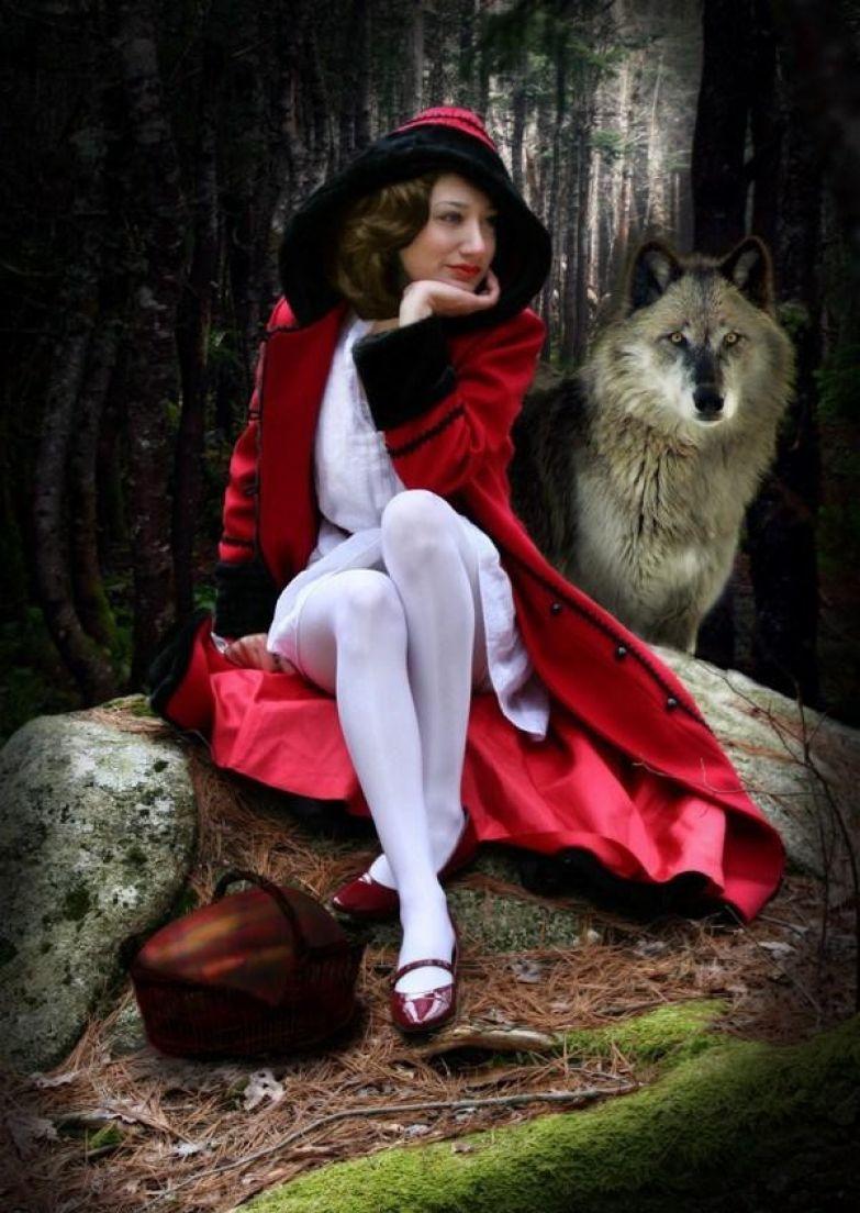 Красная Шапка и Волк. Современный версия.