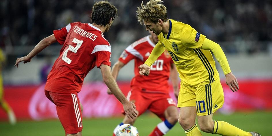 Сборная России сыграла вничью — 0:0 со Швецией в Лиге наций
