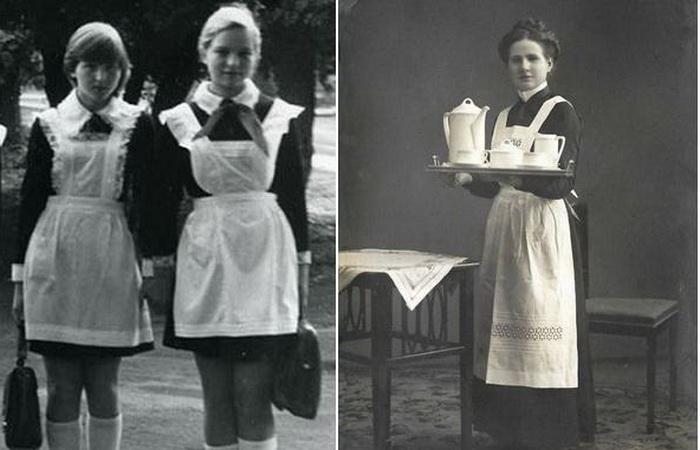 Почему форма советских школьниц выглядит как униформа горничных