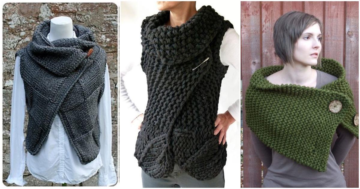 Согревающее совершенство-шарфы-жилеты. Идеи и схемы