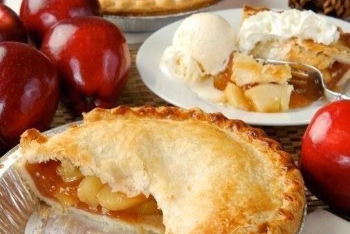Закрытый пирог с яблоком и карамелью (американская классика)