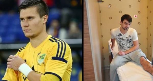 Два футболиста из Украины бу…