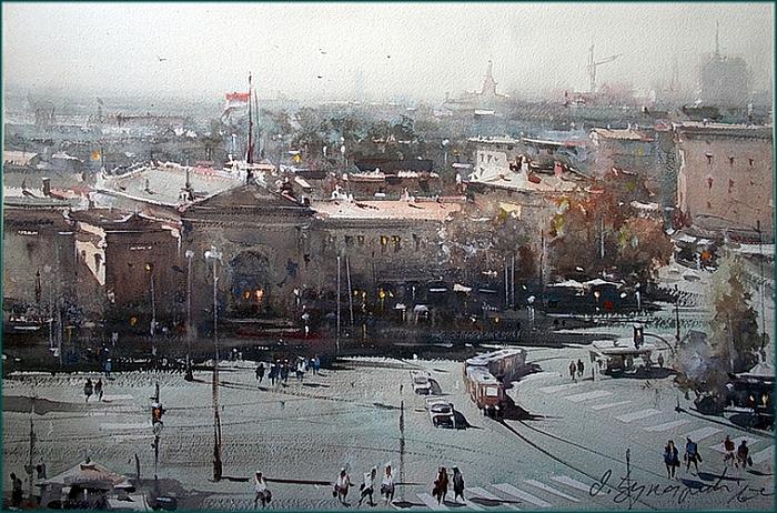 Акварельные пейзажи Dusan Djukaric