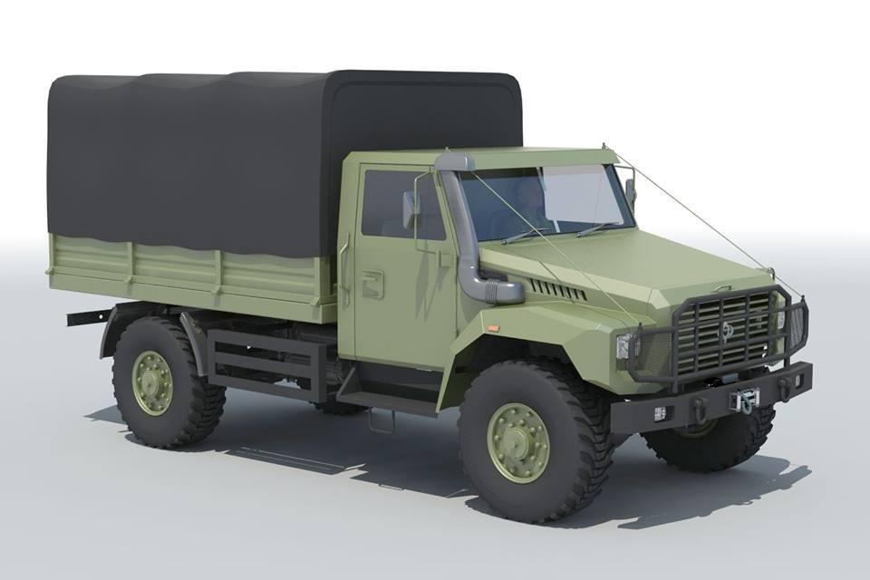 Концепт нового украинского легкого полноприводного грузовика