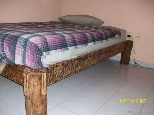 Кровать для дачи без гвоздей! + ВИДЕО