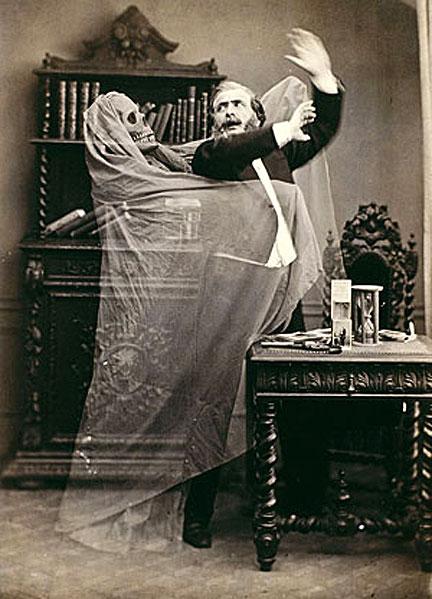 Спиритическая фотография, XIX век.