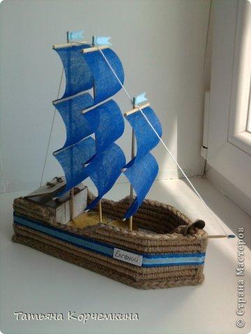 Корабль из трубочек
