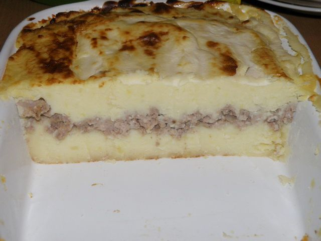 в форме для запекания. пошаговое фото приготовления картофельной запеканки с фаршем