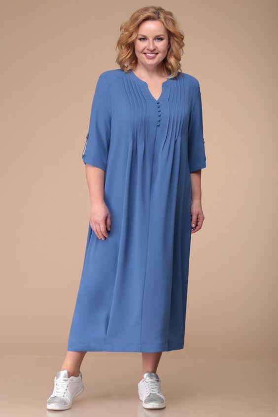 Женственные летние модели платьев сезона 2020 для женщин 50+