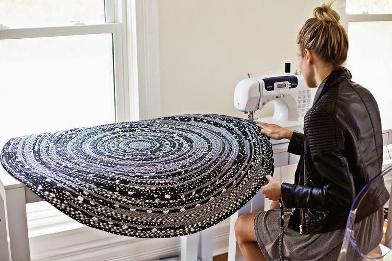 Шьем необычный коврик
