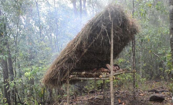 Как заночевать прямо посреди леса
