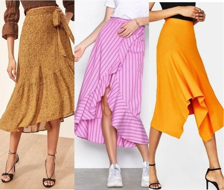 Выбираем асимметричную юбку навесну-лето-2019: фото + подборка выкроек