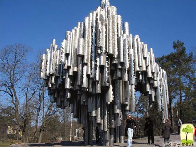 Поющий памятник Сибелиусу в Хельсинки, Финляндия - 3