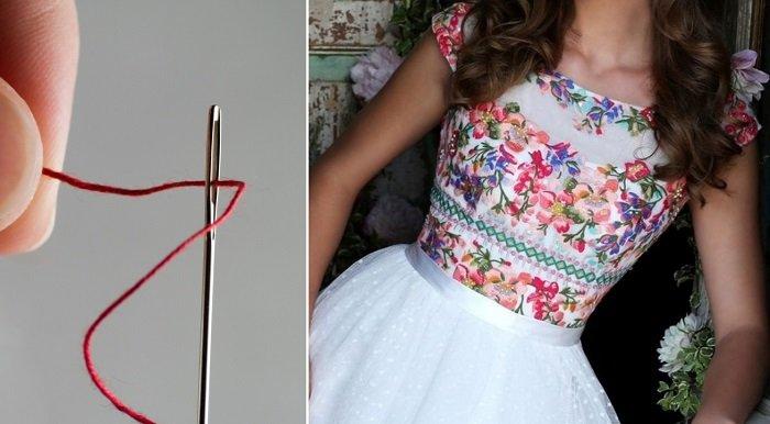 платья с вышивкой ришелье