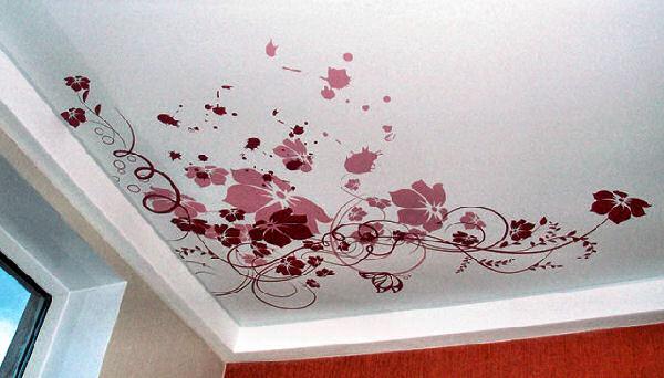 рисунки на потолке своими руками фото