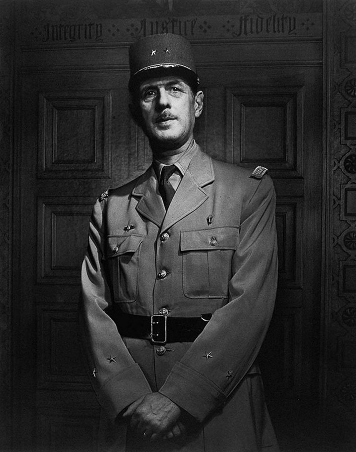 Charles de Gaulle by Yousuf Karsh