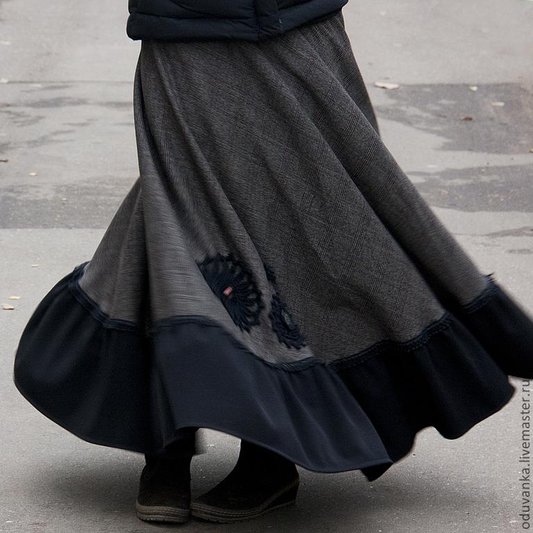 Теплая юбка на осень своими руками 96