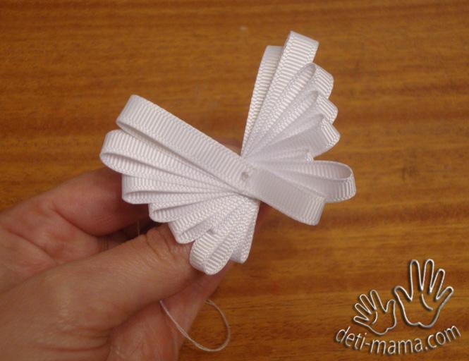 Бабочка из ленты своими руками пошаговое фото