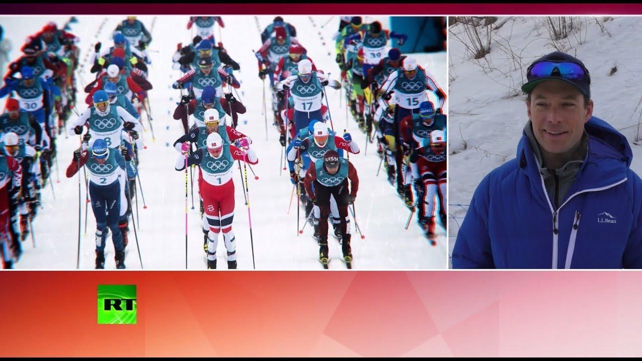 Американский тренер помог россиянину, потерявшему лыжу во время соревнований