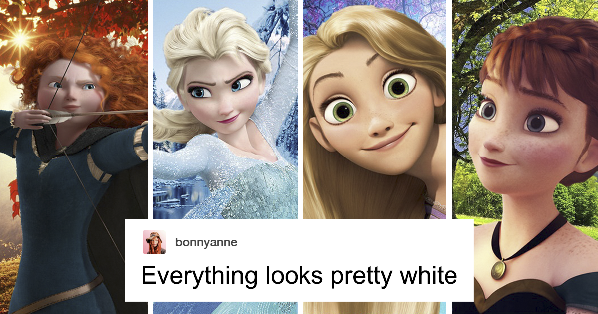Someone Accuses Disney Of Having Too Many White Princesses, Gets Shut Down With Facts