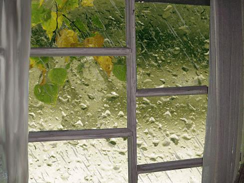 Стук дождя...
