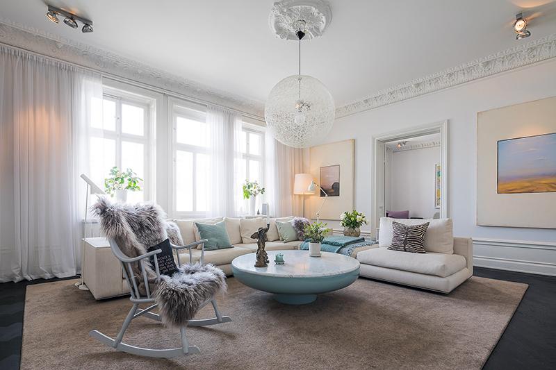 Просторная квартира с сауной в Стокгольме