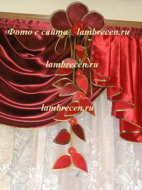 Гирлянда для штор из ткани своими руками