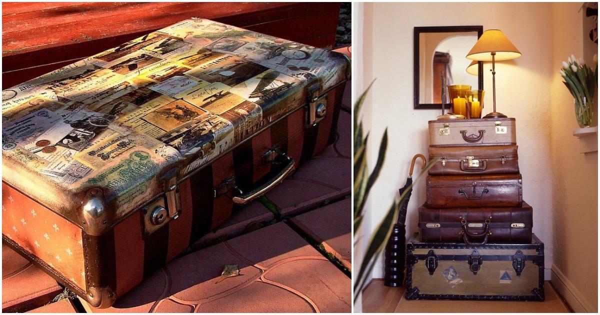 Старый чемодан на новой лад: практичные и симпатичные варианты переделок
