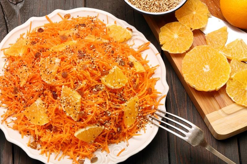 Рецепт салата из свежей моркови