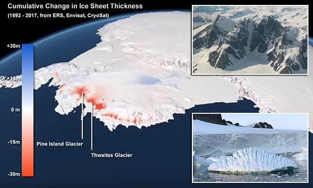 Льды Антарктиды тают с катас…