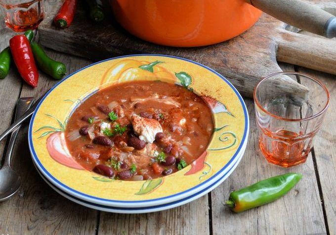 Мексиканский суп с фасолью
