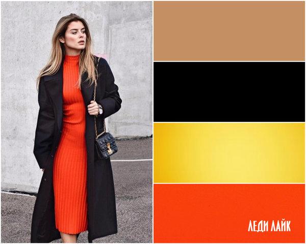 Как носить черное пальто и выглядеть ярко