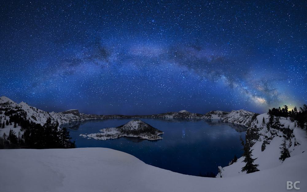 Кратерное озеро вулкана Мазама, штат Орегон, США.